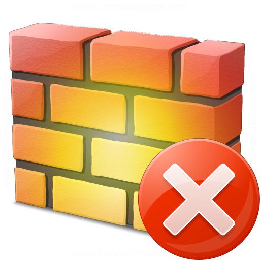 Firewall Error Icon