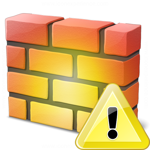Firewall Warning Icon