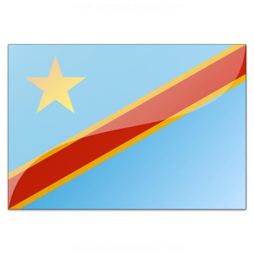 Flag Congo Democratic Republic Icon