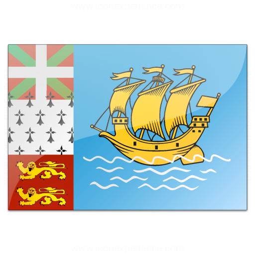 Flag Saint Pierre And Miquelon Icon