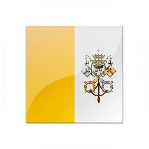 Flag Vatican City Icon