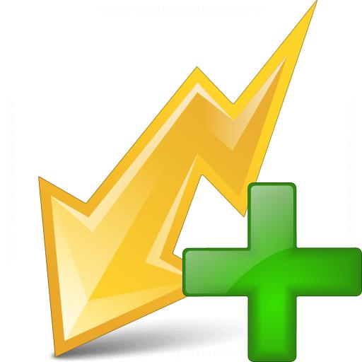Flash Yellow Add Icon