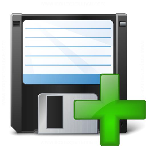 Floppy Disk Add Icon