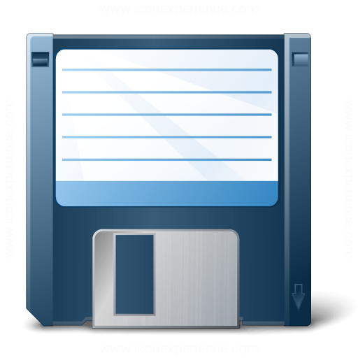 Floppy Disk Blue Icon