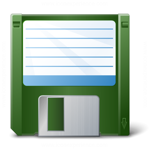 Floppy Disk Green Icon
