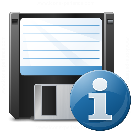 Floppy Disk Information Icon