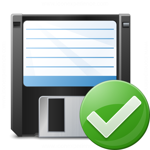 Floppy Disk Ok Icon