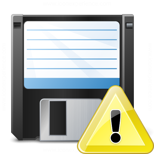 Floppy Disk Warning Icon