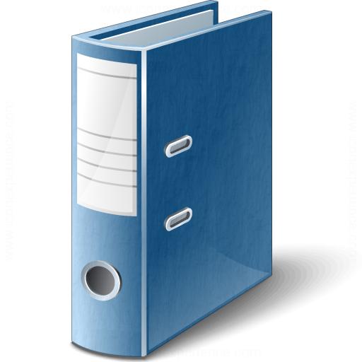 Folder 2 Blue Icon