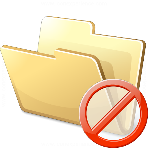 Folder Forbidden Icon