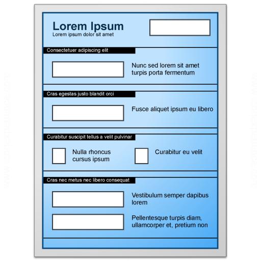 Form Blue Icon