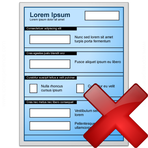 Form Blue Delete Icon