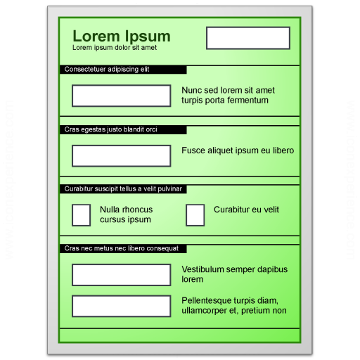 Form Green Icon