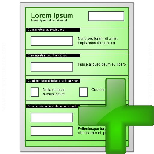 Form Green Add Icon