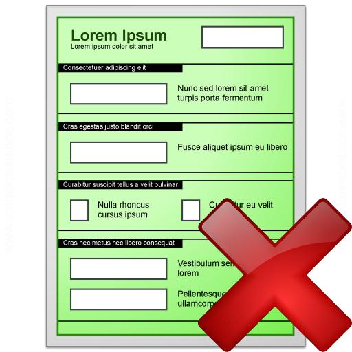 Form Green Delete Icon