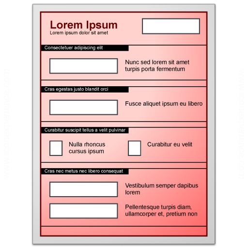 Form Red Icon