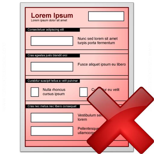 Form Red Delete Icon