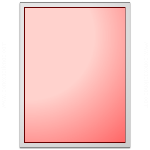 Form Red Plain Icon
