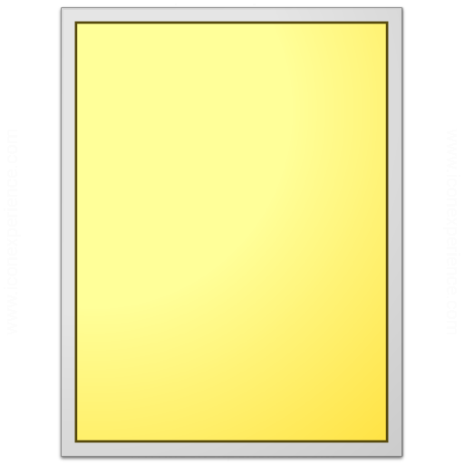 Form Yellow Plain Icon