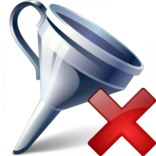 Funnel Delete Icon