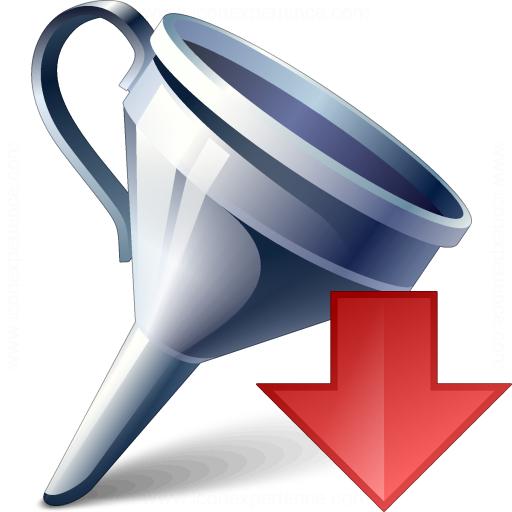 Funnel Down Icon