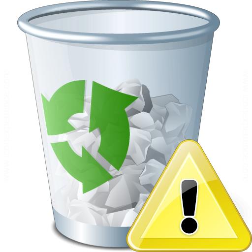 Garbage Warning Icon
