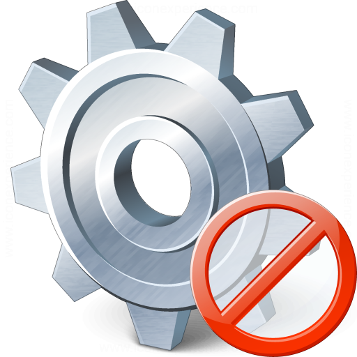 Gear Forbidden Icon