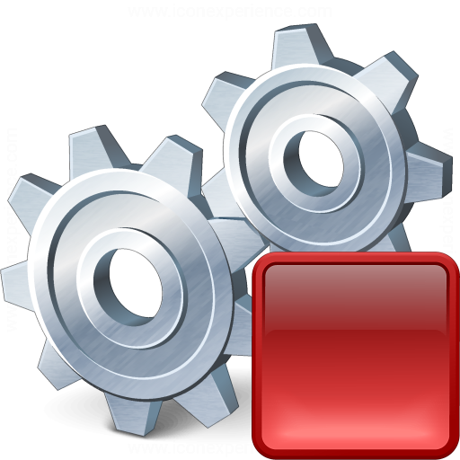 Gears Stop Icon