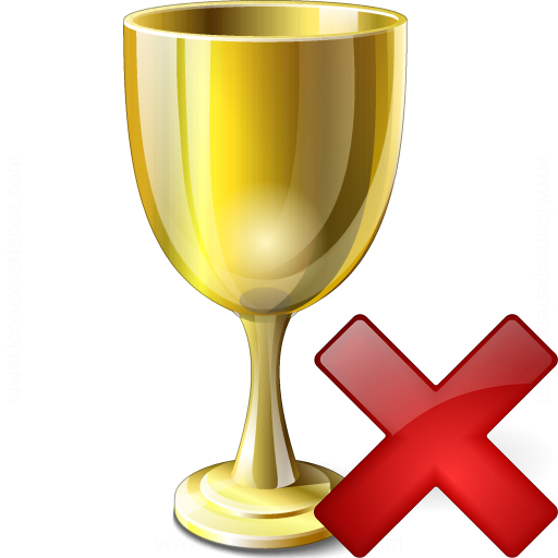 Goblet Gold Delete Icon