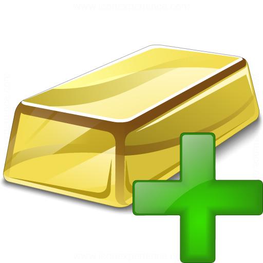 Gold Bar Add Icon