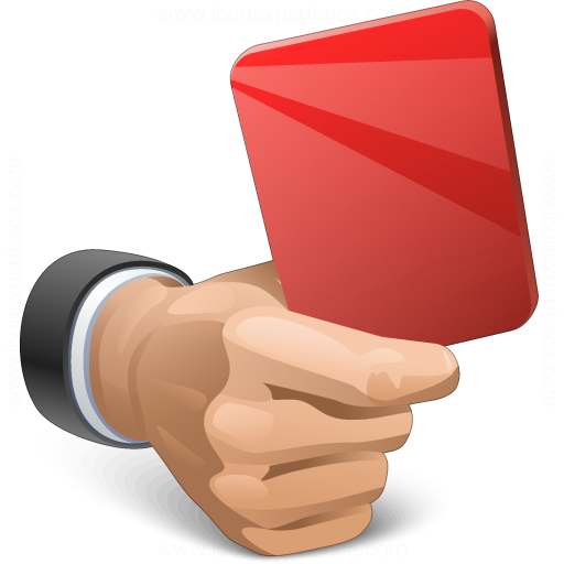 Hand Red Card Icon