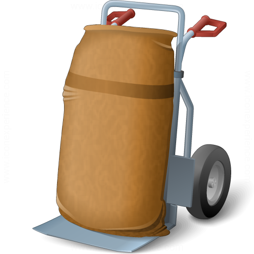 Hand Truck Bag Icon