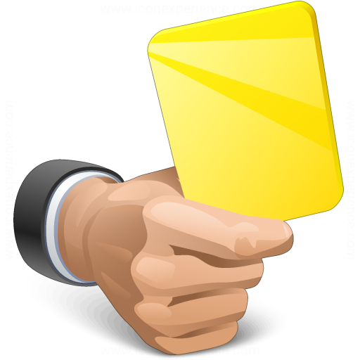 Hand Yellow Card Icon