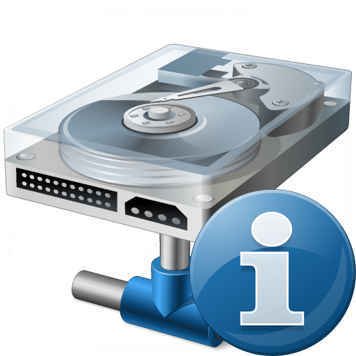 Hard Drive Network Information Icon