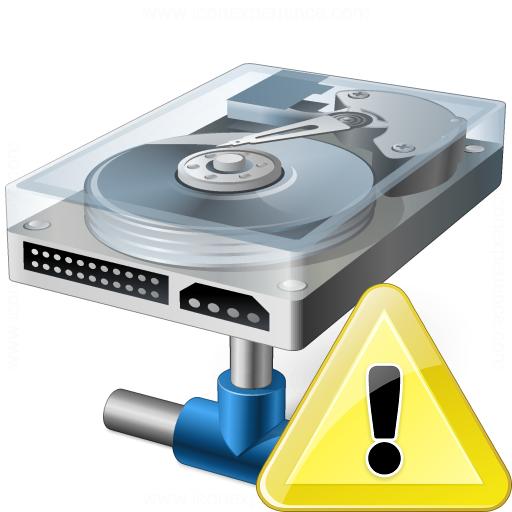 Hard Drive Network Warning Icon