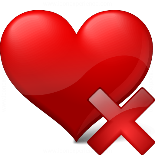 Heart Delete Icon