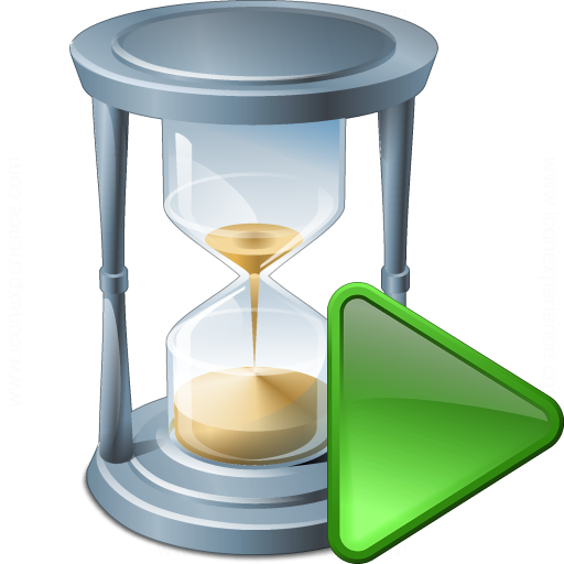 Hourglass Run Icon