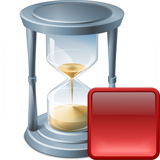 Hourglass Stop Icon