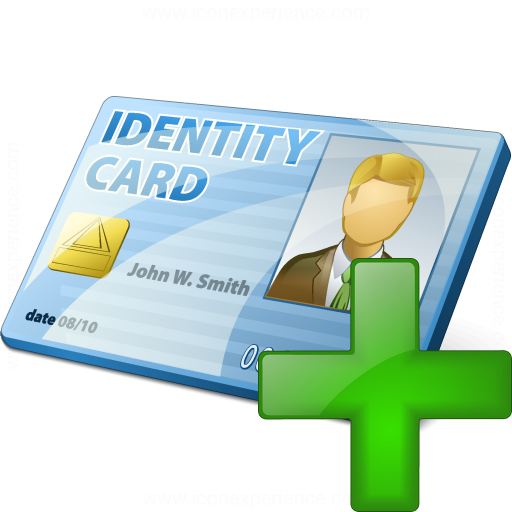Id Card Add Icon