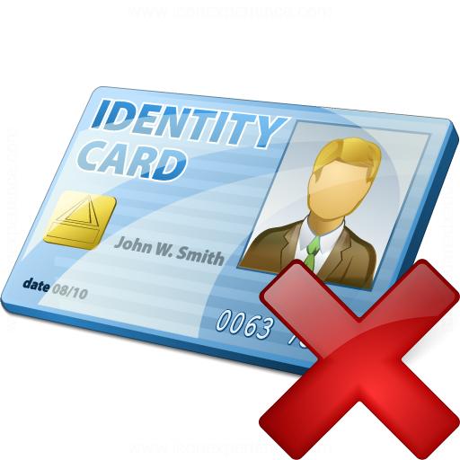 Id Card Delete Icon