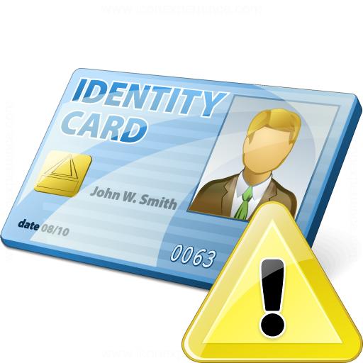 Id Card Warning Icon