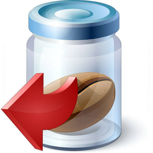 Jar Bean Out Icon