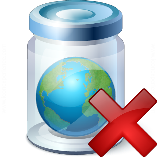 Jar Earth Delete Icon
