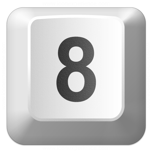 Keyboard Key 8 Icon