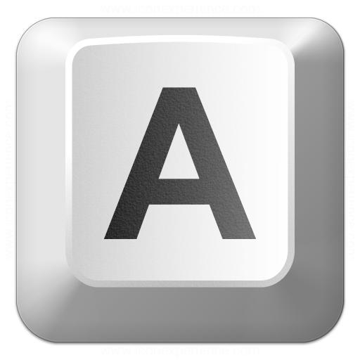 Keyboard Key A Icon