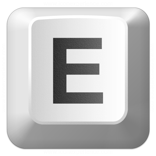 Keyboard Key E Icon