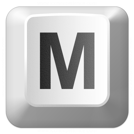 Keyboard Key M Icon
