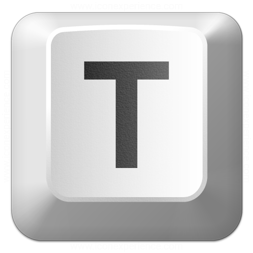 Keyboard Key T Icon