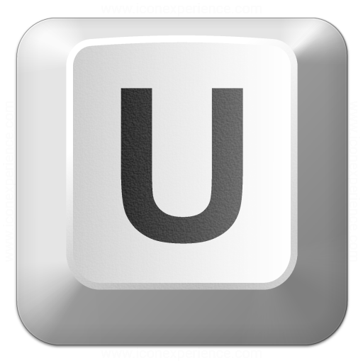 Keyboard Key U Icon