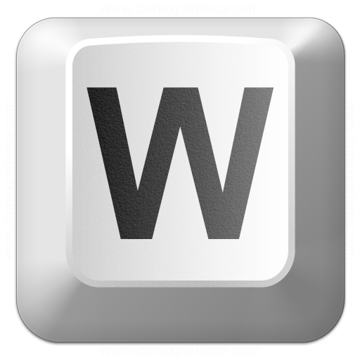 Keyboard Key W Icon